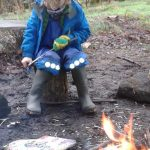 Whittling pointing sticks to roast things on!