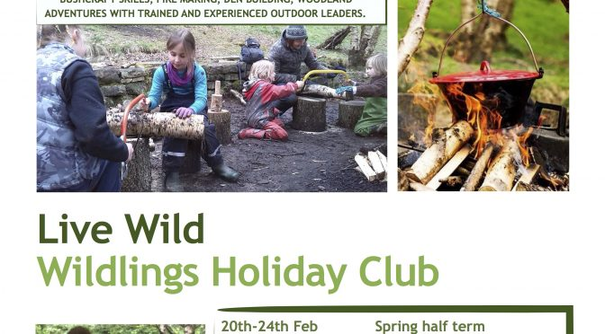 Coming Up! Wildlings Holiday Club! Dates for 2017